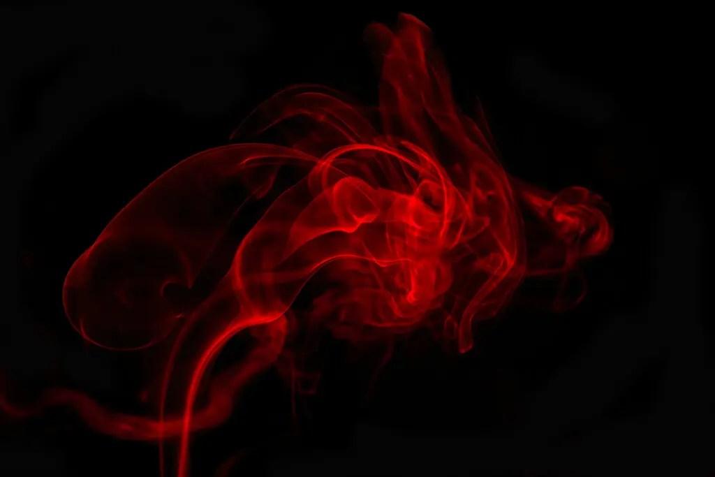 Fiery red aura