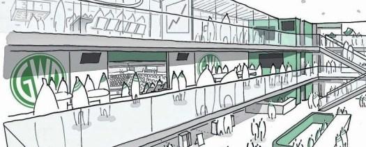 Die Ratsfraktion der Mindener Initiative (MI) begrüßt die breite Zustimmung der Ratsmitglieder für die weitere Planung zur Errichtung einer Multifunktionshalle auf dem rechten Weserufer. Grafik: Stadt Minden/pr