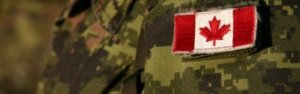 Canadian Mlitary CANPAT featuring Canadian flag patch