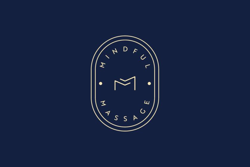 Gold Logo on Navy Blue