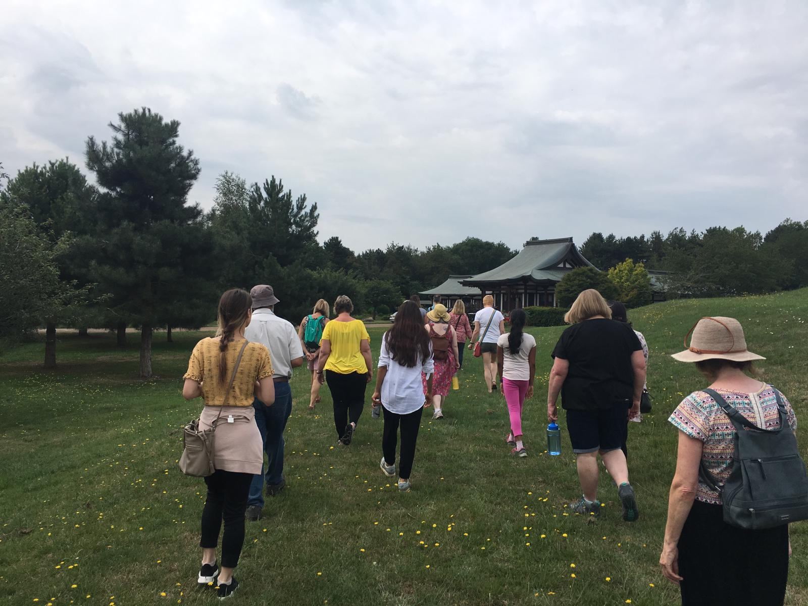 mindful walking at the peace pagoda 2020