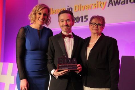 Tony O'Shea-Poon awarded at the National Diversity Awards