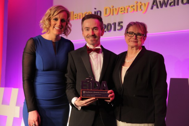 Tony O'Shea-Poon awarded at the National Diversity Awards
