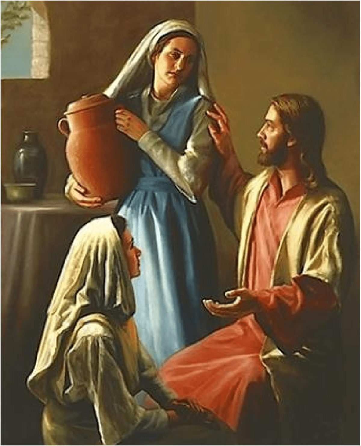 Jesus, Mary and Martha