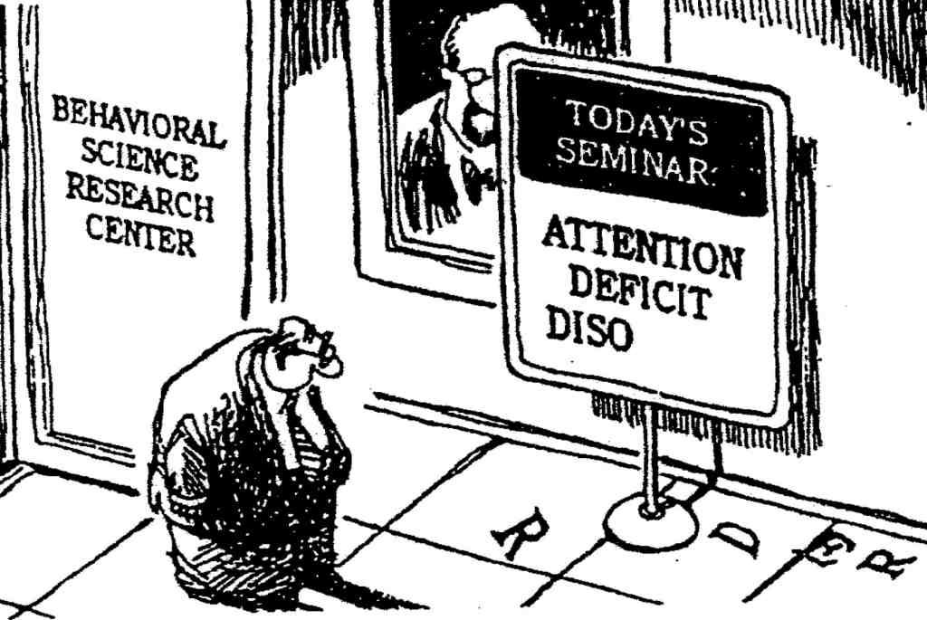 ADHD Workshop Cartoon