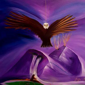 gratitude, eagle, visualisation, mountains