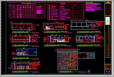 Cafe Design Typical Floor Plan CAD File