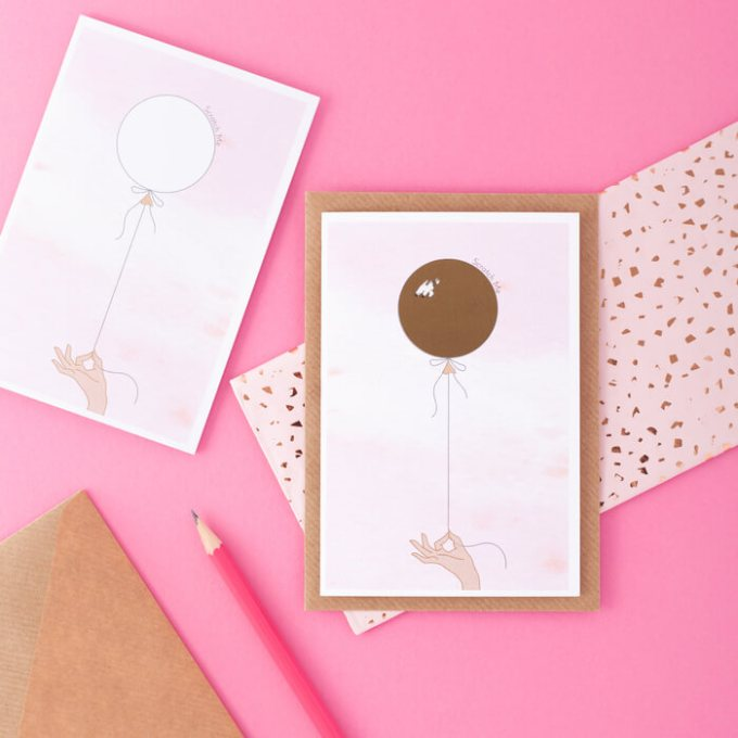 Be my Bridesmaid Card Scratch Off
