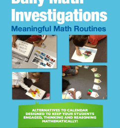 Daily Math Investigations for K-2 – An Alternative to Calendar    Mathematical Thinking [ 1086 x 832 Pixel ]