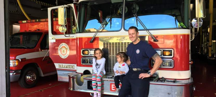 Thanking our local firefighters