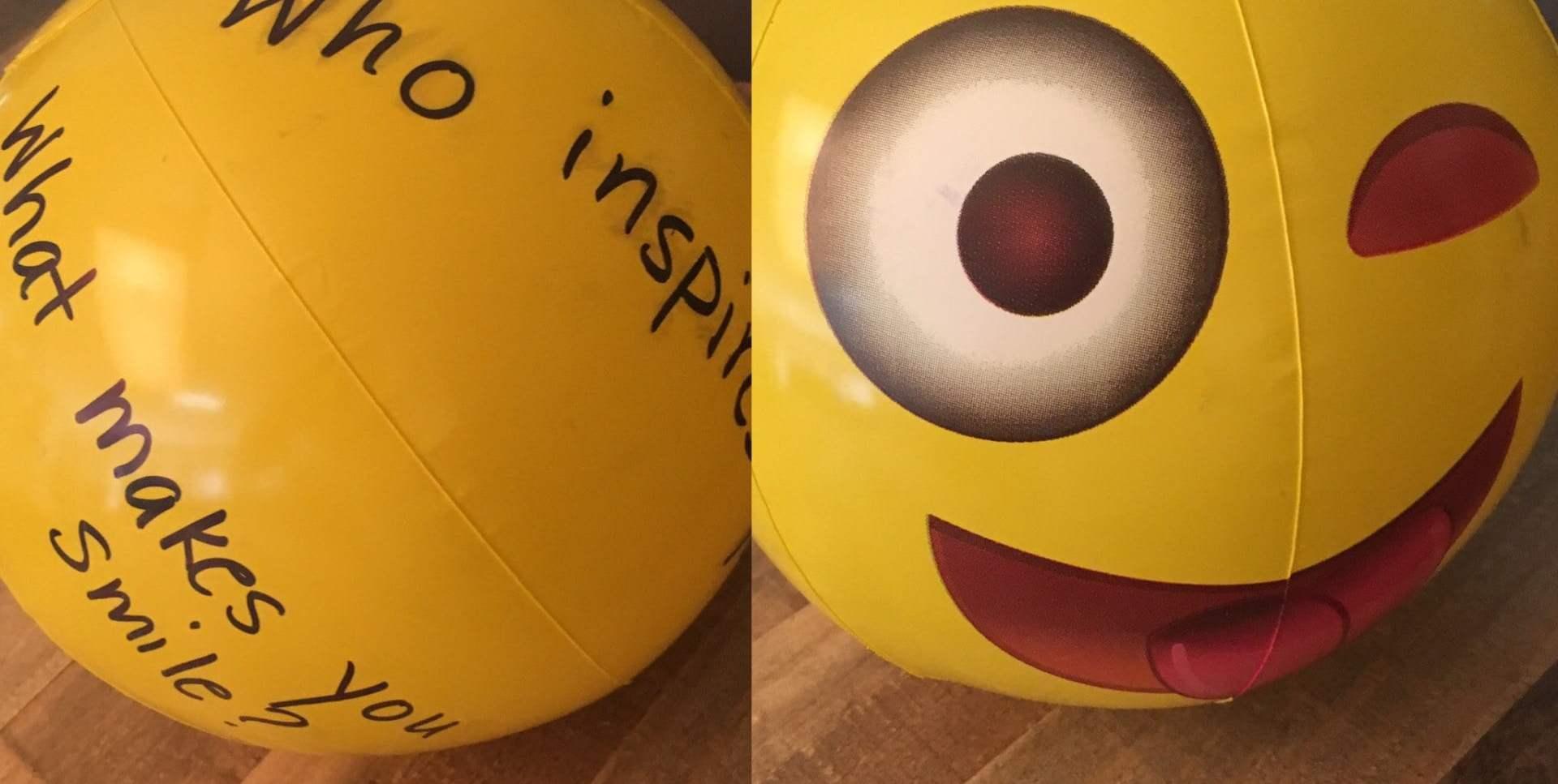 Toss the Gratitude Emoji Ball