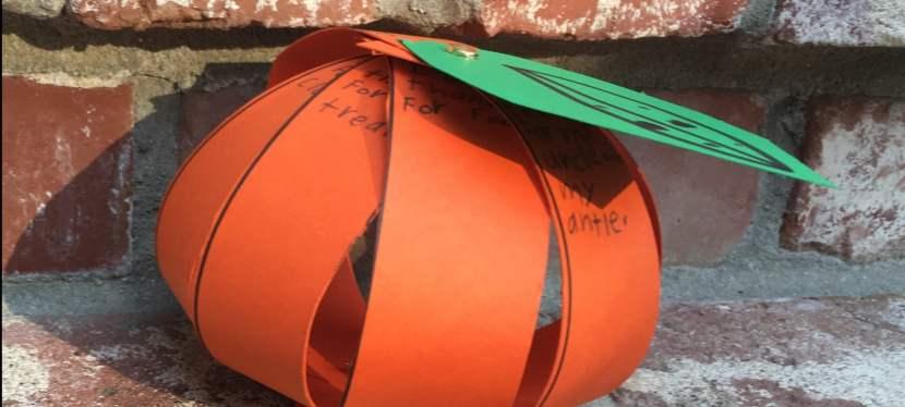 A Grateful Twist to a Pumpkin Craft