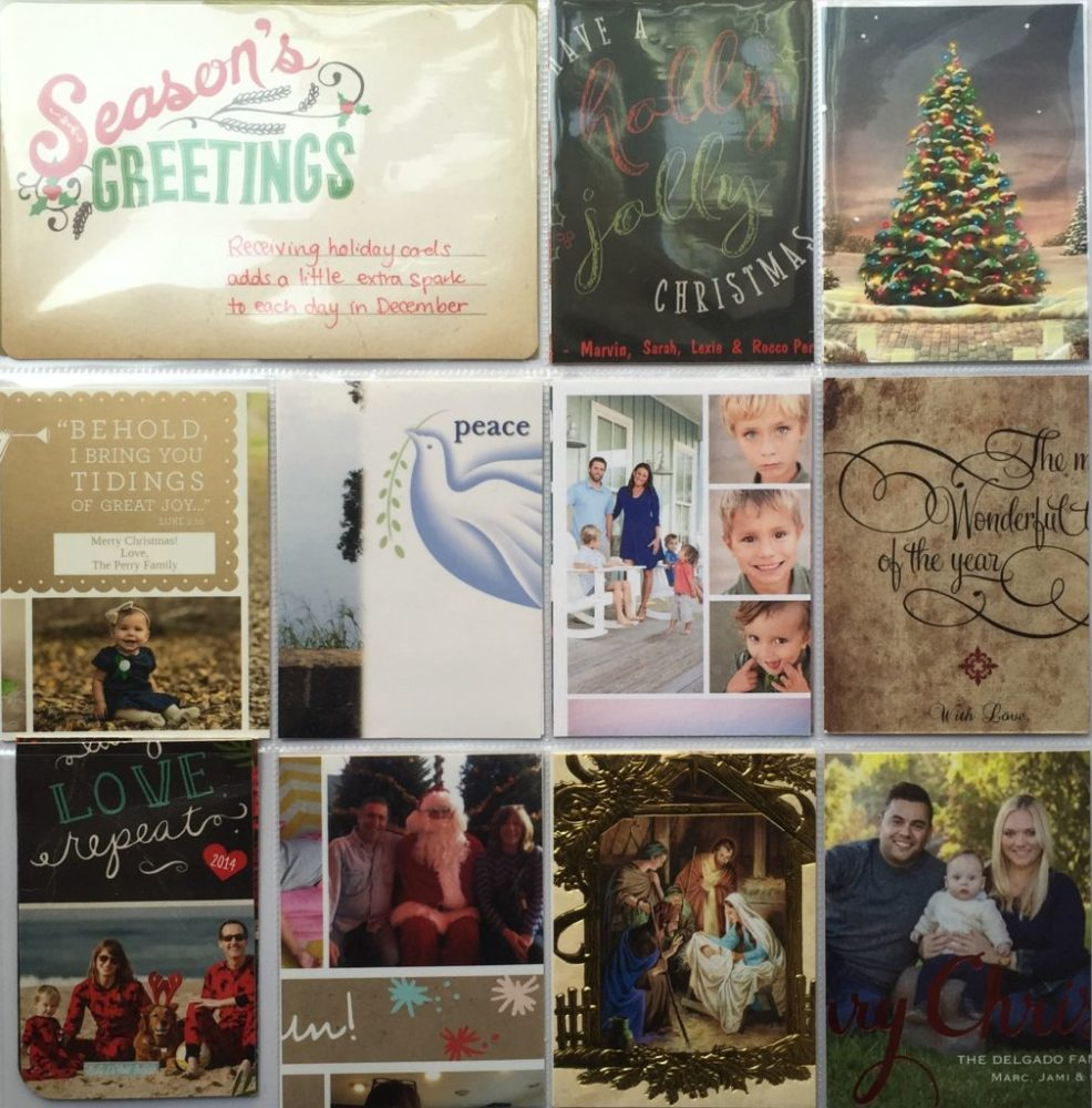 Holiday Album Part 2   What to do with all those Holiday Cards? (4/6)