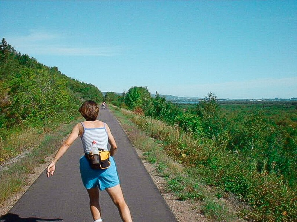 Rollerblading and hiking in Duluth, Minnesota, one of the best places for hiking in Duluth