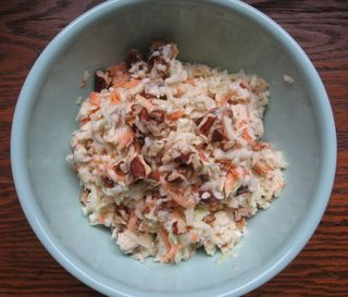 Kid friendly cole slaw recipe. mindfulmomma.com