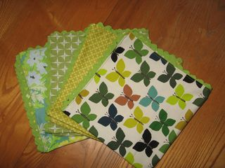 homemade napkins from Sewing Green www.mindfulmomma.com