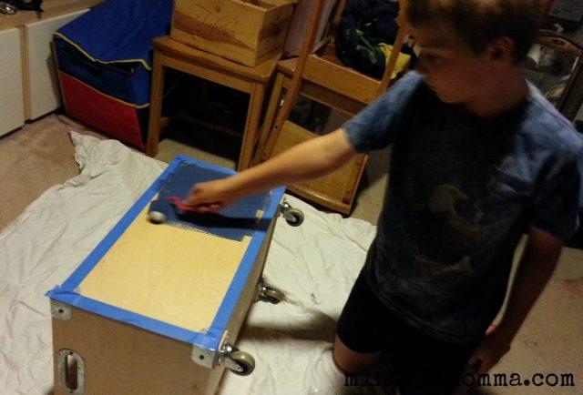 Lullaby chalkboard paint project www.mindfulmomma.com
