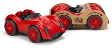 Green Toys red race cars via mindfulmomma.com