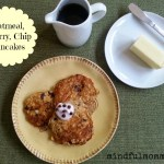 Decadent Oatmeal Cherry Chocolate Chip Pancakes