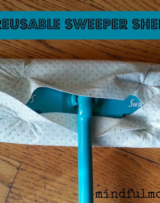 Reusable bamboo sweeper sheets via mindfulmomma.com