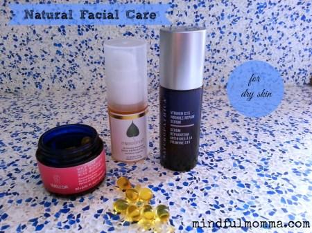 Natural Facial Care for Dry Skin via mindfulmomma.com
