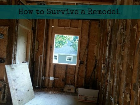 How to Survive a Remodel #HealthierHome