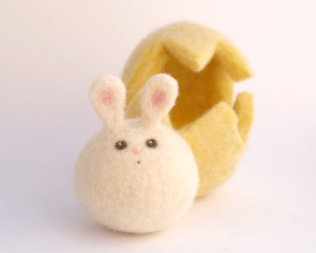 Felted Bunny in Egg and other candy free Easter gifts