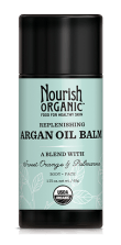 Nourish Organic Argan Oil Balm via mindfulmomma.com