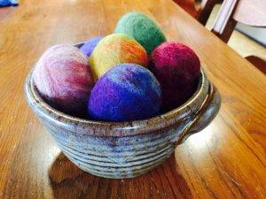 felted egg soaps via mindfulmomma.com