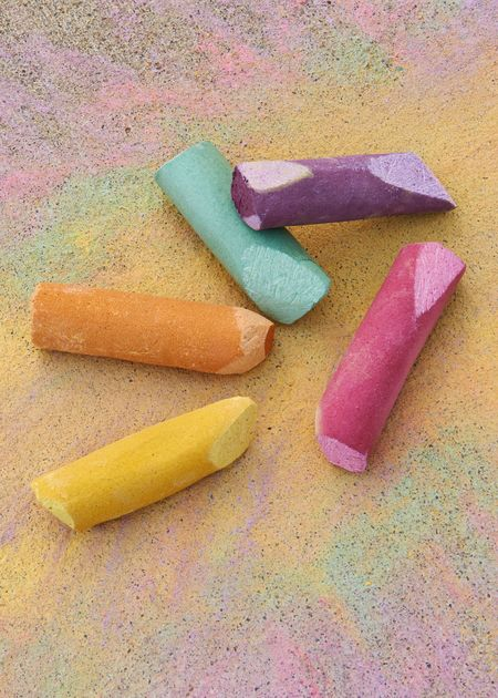 Veggie sidewalk chalk and other candy free Easter gifts