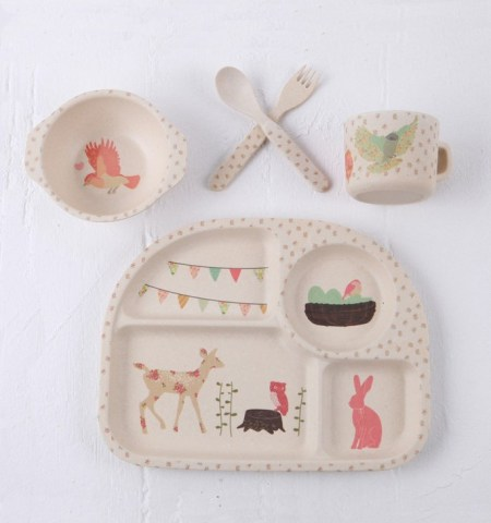 Bamboo Dinnerware Set and Other Eco Friendly Baby Gifts