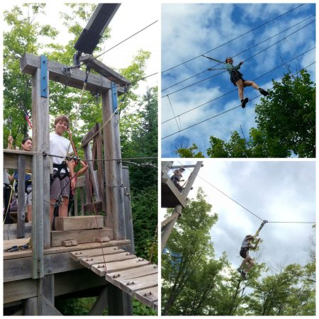Ropes course at Wolf Ridge ELC
