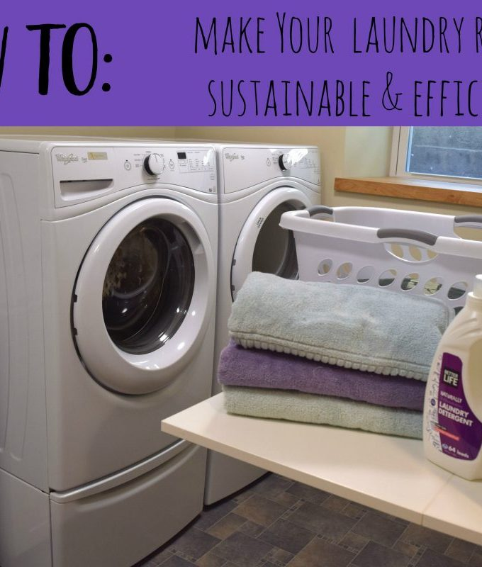 How to Make Your Laundry Room Sustainable & Efficient // www.mindfulmomma.com