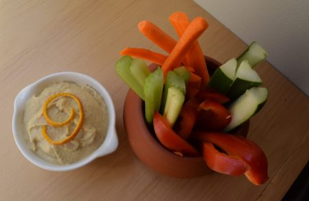 Kid Friendly Orange Hummus // www.mindfulmomma.com