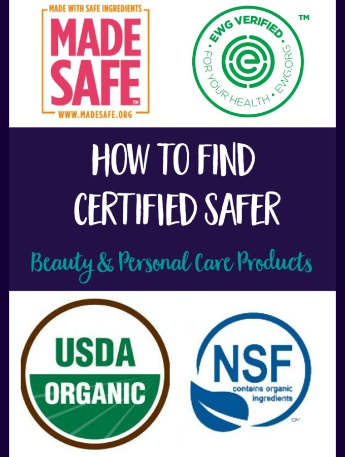 Certified Safer Beauty Products & Personal Care