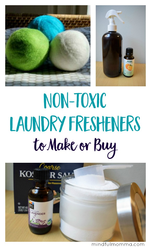 Non Toxic Laundry Fresheners to Make or Buy | DIY | home remedies | safer products | Mindful Momma via @MindfulMomma