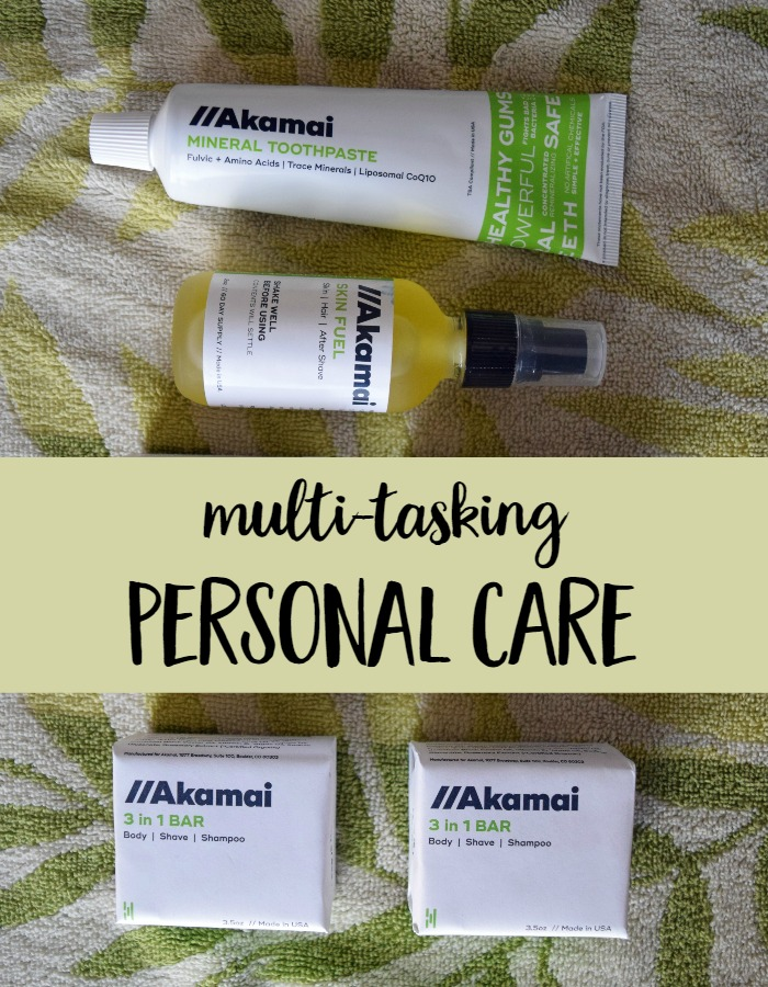 Ready to radically simplify your personal care products? These 3 products from Akamai are all you need for skin, hair, share and mouth care! | natural beauty products  via @MindfulMomma