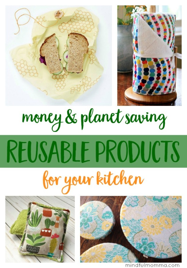 These reusable kitchen products will save you money plus they are eco-friendly and much nicer to use than wasteful disposable products. | waste free | healthy natural living