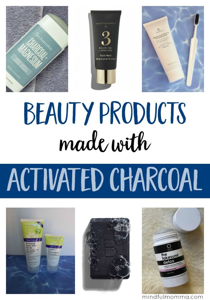 Natural beauty products like facial masks, deodorant and toothpaste that contain activated charcoal to help you detox from the outside in. | health & wellness | natural lifestyle | clean green beauty