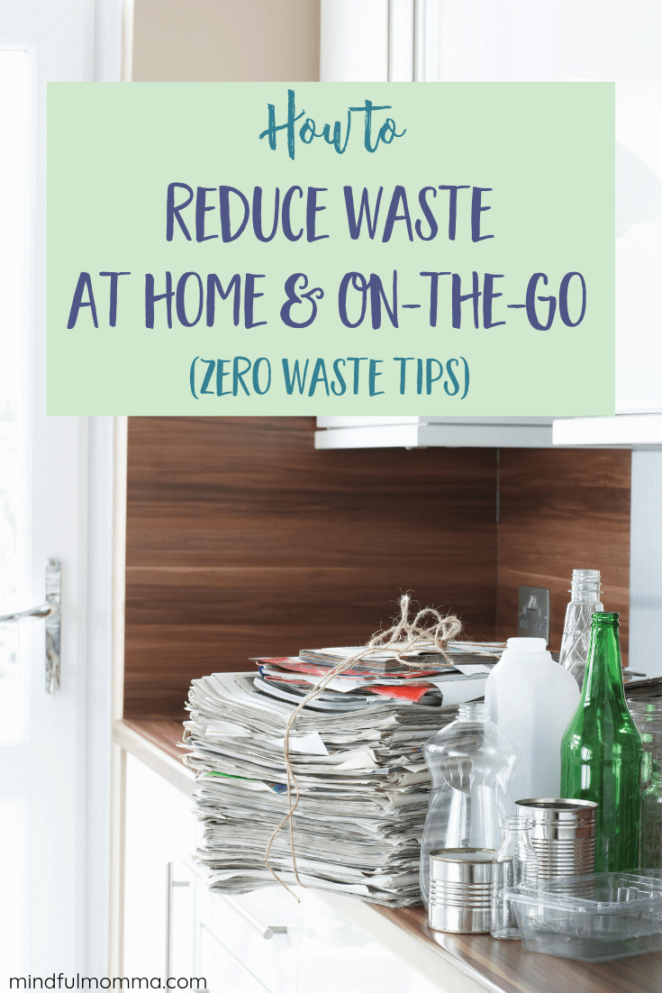 Reduce the amount of garbage you put out each week by making these easy changes that are eco-friendly and good for the planet, but will save you money too! No need to drastically change your lifestyle - all it takes is a bit of preparation and a mindful outlook toward the products and packaging you bring home in the first place. | #zerowaste #wastefree #reusable #ecofriendly #sustainable #greenliving #planetfriendly  via @MindfulMomma