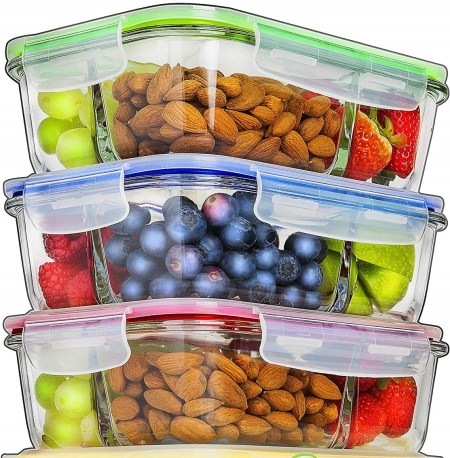 Glass Meal Prep Containers (2)