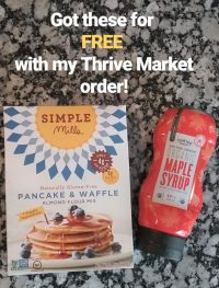 Free Simple Mills Pancake Mix and Maple Syrup with a Thrive Market order