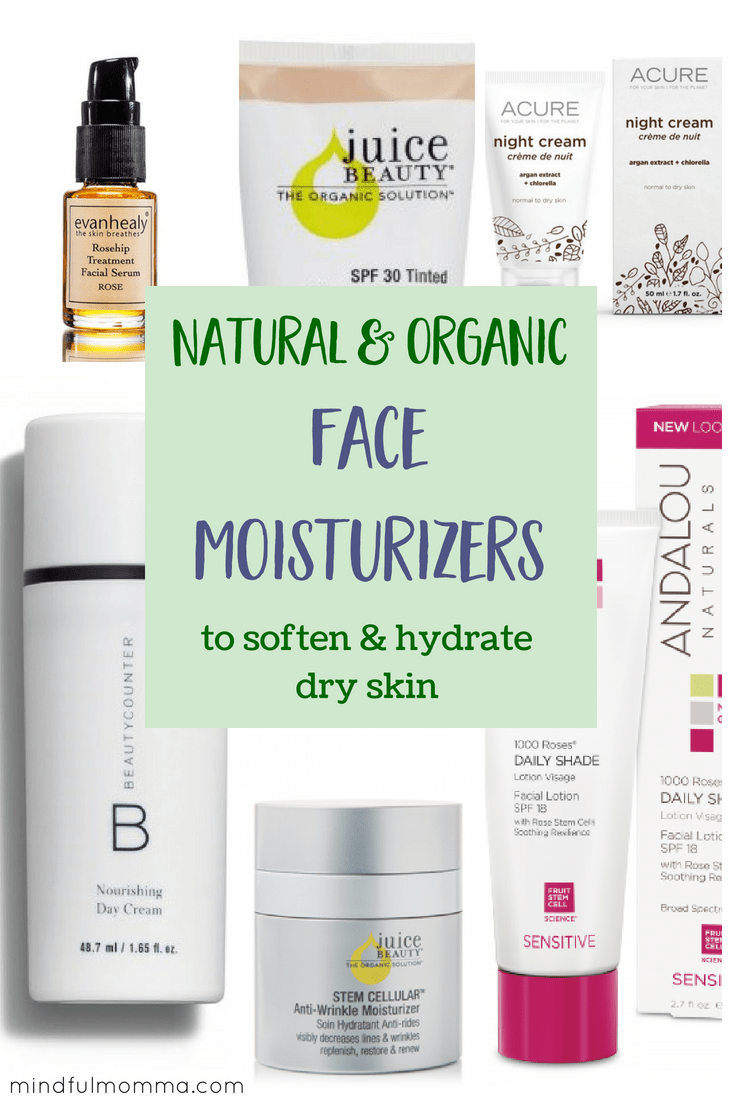 These natural & organic moisturizers help to hydrate and soften dry skin using safe, non-toxic ingredients. Perfect for a winter skincare routine or for natural beauty all year round. | #organic #naturalbeauty #nontoxic #betterbeauty #greenbeauty #skincare via @MindfulMomma