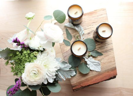 Natural soy candles and other eco friendly gifts