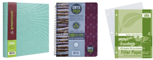 Paper & Binders - Eco-Friendly School Supplies