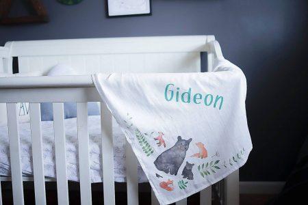 Personalized Organic Cotton Swaddle Blanket