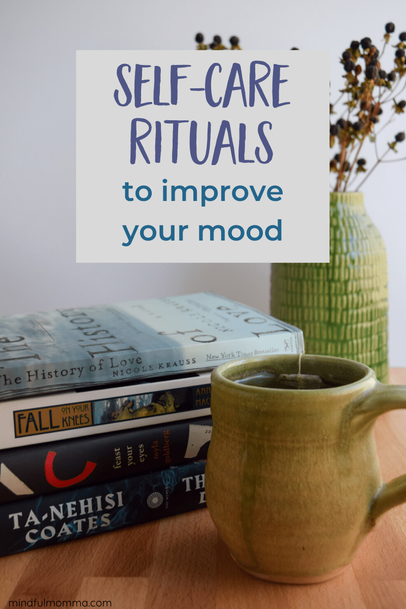 These self-care rituals will help improve your mood and reduce the stress and anxiety that builds up during the dark winter months each year. | #ad #Natrol #Natrol5htp #selfcare via @MindfulMomma