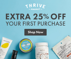 Thrive Market 25% off first purchase
