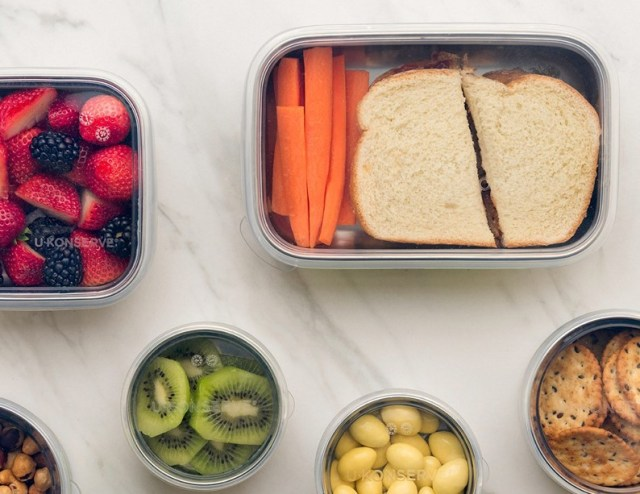 U Konserve reusable lunch container with silicone lid