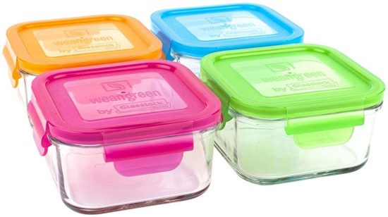 Wean Green Lunch Cubes and other reusable lunch containers
